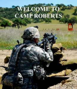 Welcome to Camp Roberts Soldier firing rifle