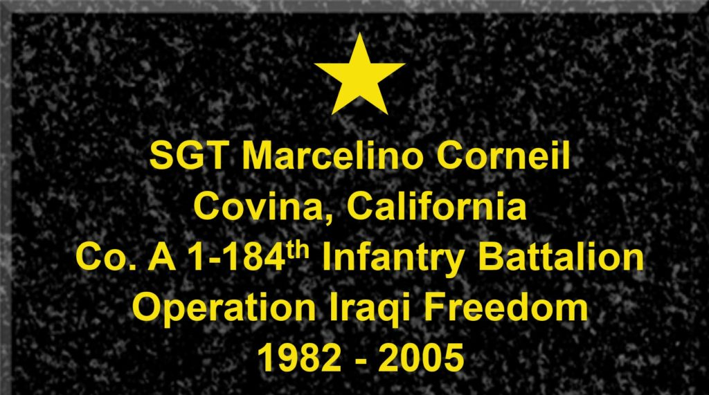 Plaque of Sergeant Marcelino Corneil