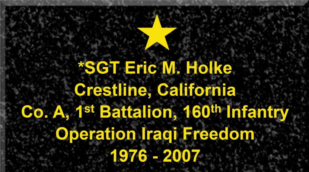 Plague Sergeant Eric M. Holke