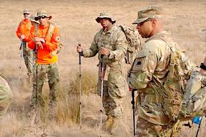 California State Guard Members conduction field operations